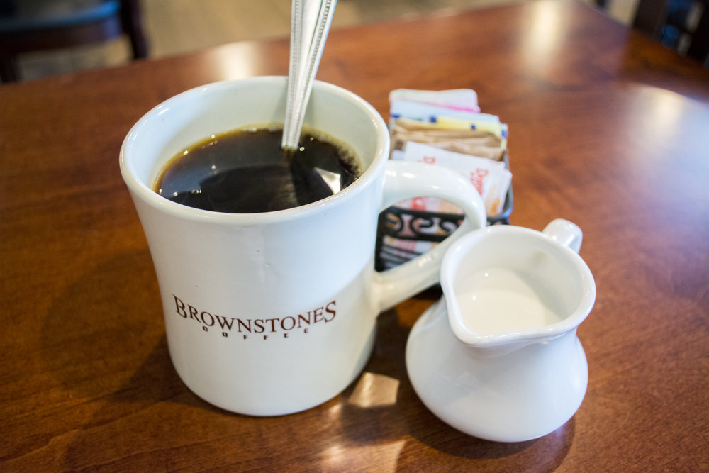 Originally founded as a coffee shop in 2002, Brownstones still has a great cup of coffee.