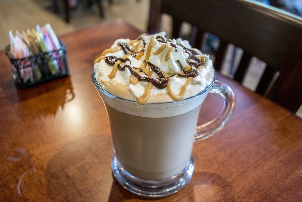 Those who like a sweet start to their day can try one of Brownstones popular espresso drinks, like the Peanut Butter Cup Latte.