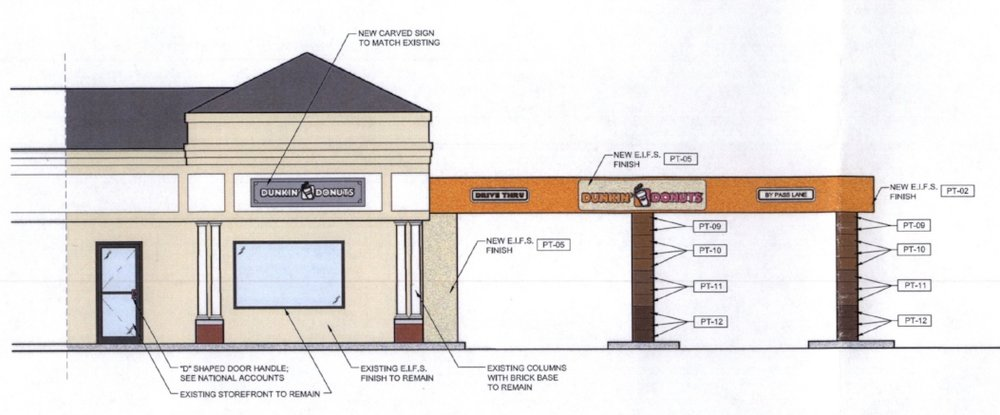 The Huntington Zoning Board of Appeals approved last week plans for a Dunkin' Donuts with a drive-thru window at the corner of Southdown Road and West Shore Road in Huntington.