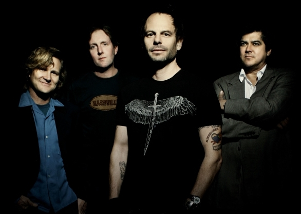 The '90's alternative rock band Gin Blossoms, from left, Scott Johnson, Bill Leen, Robin Wilson, and Jesse Valenzuela, will take the stage this Sunday at The Paramount.