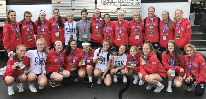 The Cold Spring Harbor girls lacrosse team traveled to SUNY Cortland last weekend where they captured the first New York State Championship title in program history.   (Photo/Twitter/Cold Spring Harbor Athletics)