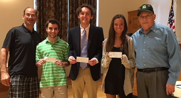 Harborfield's high schoolers Robbie Panettieri, Kathryn Simpson and James White were the winners of this year's scholarships.