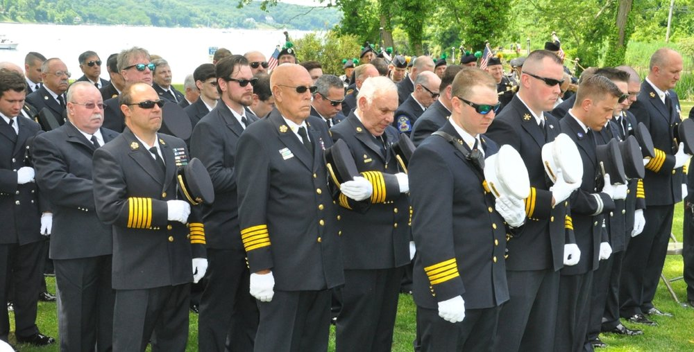 Cold Spring Harbor firefighters remember those who lost their lives during the 9/11 terrorist attacks.