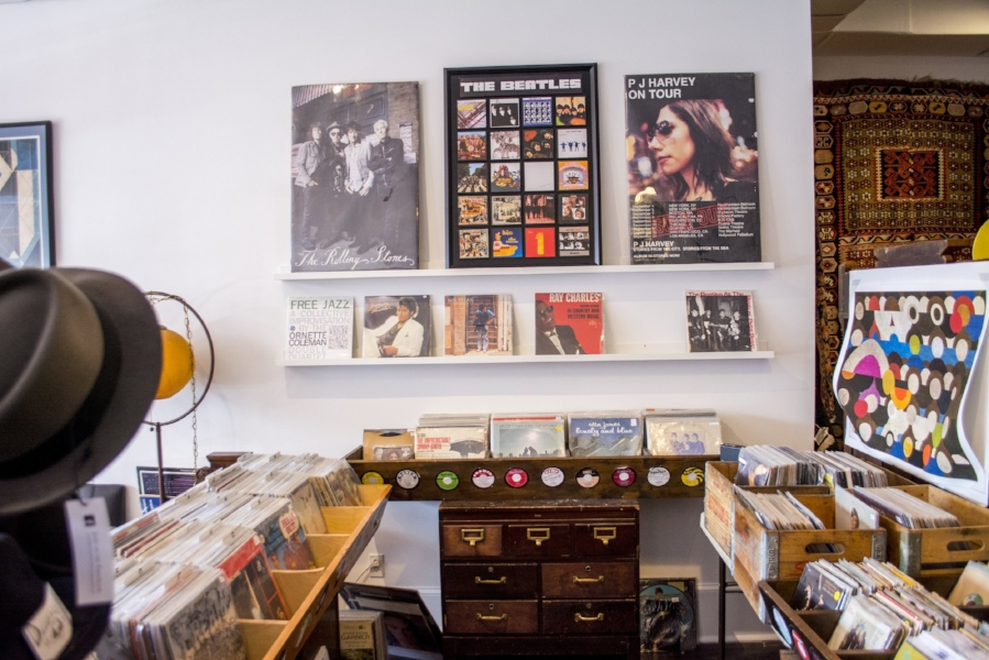 Some of the vinyl records available at Industry.