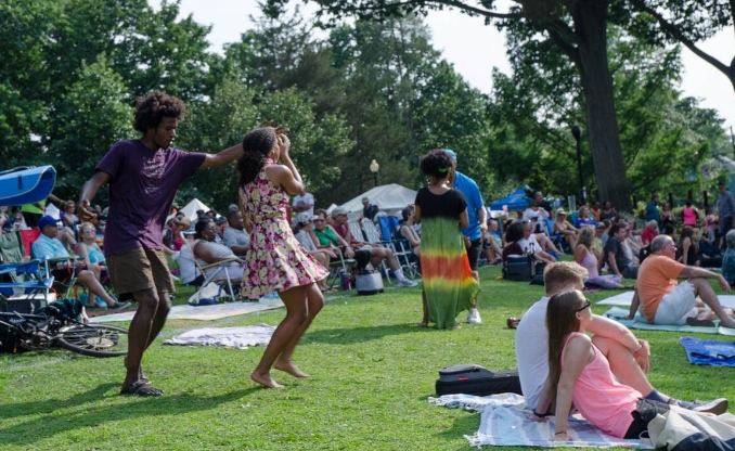 The fourth annual Coltrane Day music festival will be held this Saturday in Heckscher Park.   (Long Islander News photo/archives)