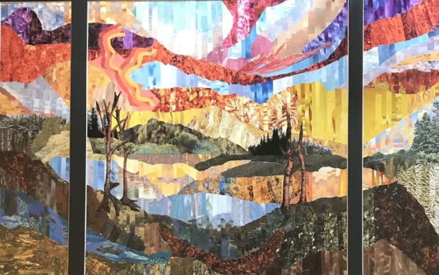"""Dix Hills artist Sheri Berman's """"Day's End,"""" collage also earned an award of excellence."""