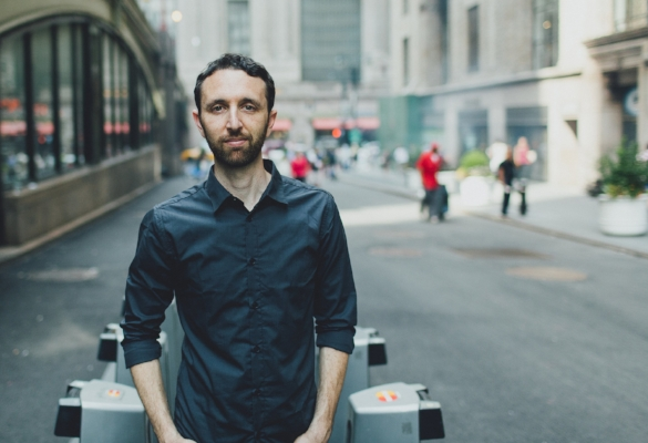 The Danny Green Trio, led by pianist Danny Green, pictured, bassist Justin Grinnell and drummer Julian Cantelm, is slated to perform at the Huntington Summer Arts Festival in Heckscher Park on Aug. 3.   (Photo/Sasha Israel)