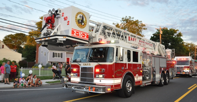 An East Northport Fire Department ladder truck was featured in the parade.