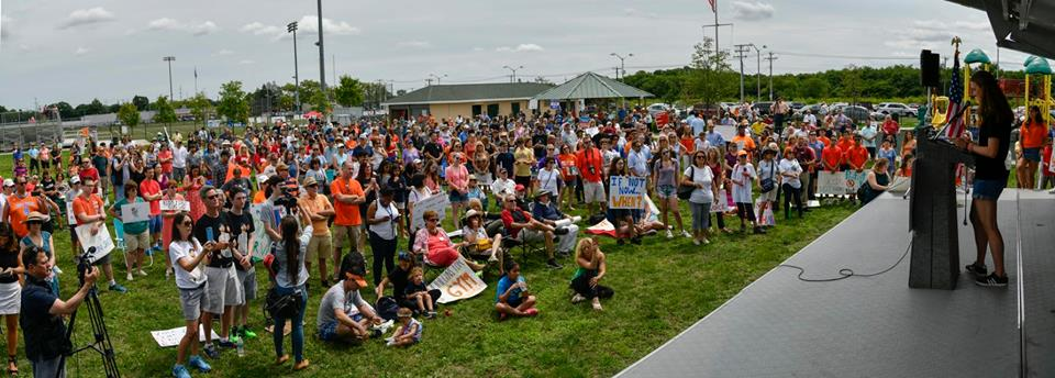 Hundreds gathered in Breezy Park in Huntington for the Rally to End Gun Violence organized by Students Against Gun Violence Long Island.  Photo courtesy office of Rep. Tom Suozzi