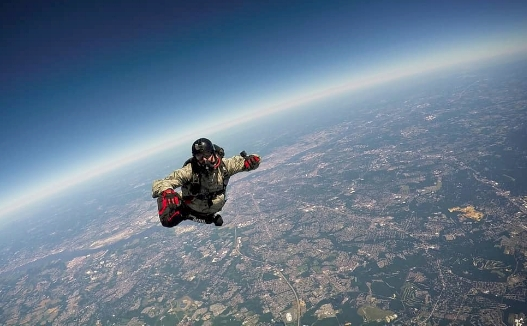Greenlawn Fire Department Lieutenant Eric Proctor completed a 24,000-foot HALO jump on July 7 in honor of Christopher Raguso.