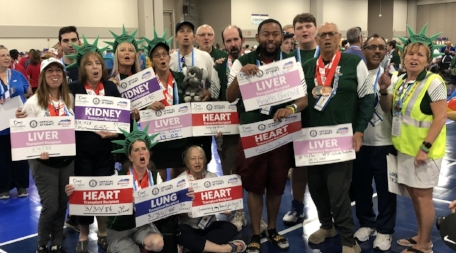 Siems competed with Team Liberty, comprised of transplant recipients from New York and Connecticut.   Photo courtesy Michelle Martines
