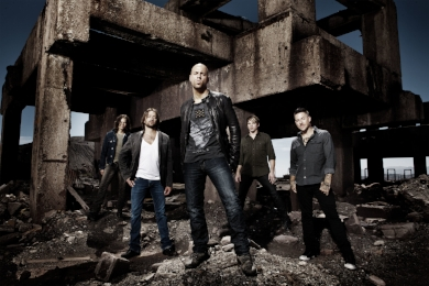 Chris Daughtry, center, and his namesake band are slated to take the stage Saturday at The Paramount in Huntington.