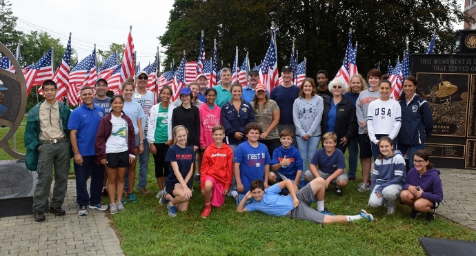 The Field of Honor is organized by Huntington Kiwanis and was put together by volunteers in time for Sept. 11 memorial ceremonies.