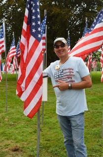 Kiwanis of Huntington member Dan Picard chairs the Field of Honor project.