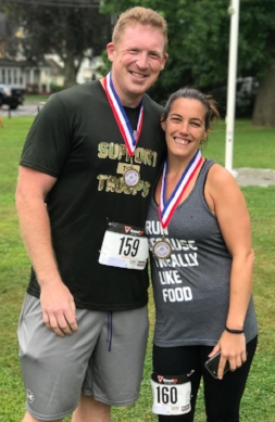 With help from his fiancé, Kathy Wagner, Vogel has been training by running 5ks, 10ks, and half marathons.