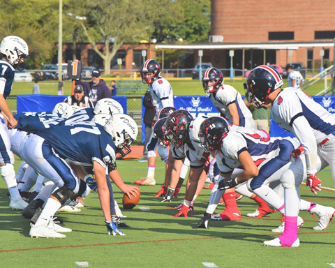 The Huntington Blue Devils were victorious against Smithtown East during their Homecoming game, 32-20.  Photos/Huntington School District