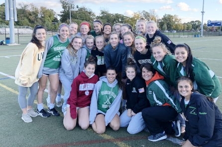 The Harborfields Field Hockey team after their game with USA Women's National soccer team player Allie Long.