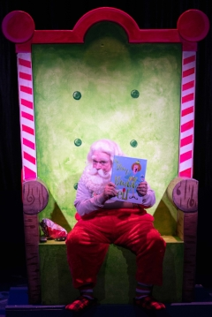 "Gordon Gray (Santa) in the Engeman Theater production of ""Elf: The Musical.""  Photo by Michael DeCristofaro"