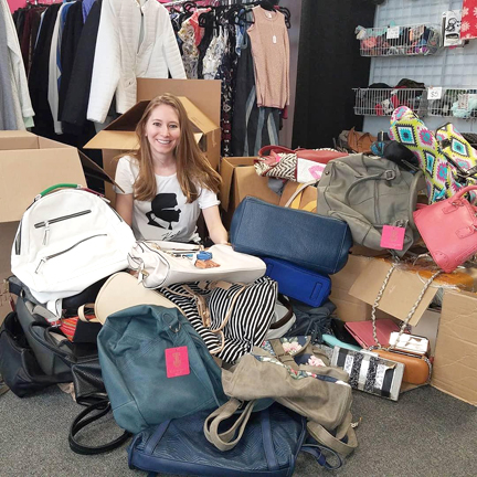 Fashion Institute of Technology grad Amanda Munz rescues samples and overstock from top fashion houses to benefit students throughout the metro New York area.