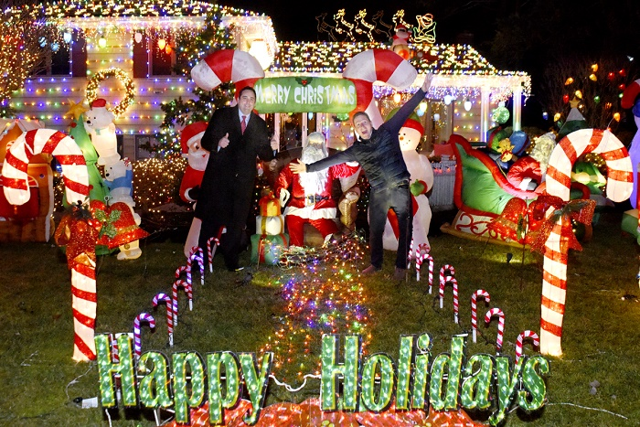 The Town of Huntington's annual Holiday Decorating Contest, sponsored by Councilman Mark Cuthbertson and Supervisor Chad Lupinacci, awarded some nifty prizes to some spirited holiday decorators.  Town of Huntington photos/Doug Martines