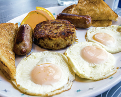 Breakfast traditionalists are sure to enjoy The Classic ($10.75) at  Hatch  (286 Main St., Huntington), which features three eggs any style flanked by a side of hash browns, choice of sausage, bacon or ham, and toast. Our Foodie tried it with over easy eggs, sausage links and white toast. The fresh eggs were the star of this dish, and the hash browns and sausage provided well-seasoned complements. The beautiful runny egg yolks were great to dip the toast in and tie the dish together.