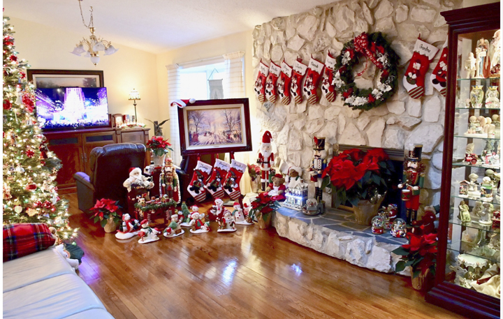Three trees and collectibles accumulated over 40 years are impeccably displayed in the Schwarz home at 28 Gwynne Road, Melville. The displays earned second place honors.   Town of Huntington photo/Doug Martines