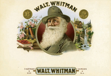 Whitman-branded cigars were sold in the 1900's. More recently his words have been evoked to sell cars and blue jeans.