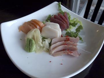 Sashimi Regular, offering a selection of fresh fish ($20)