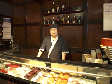 Sushi chef Jason He oversee the fish preparation at Hikudo.