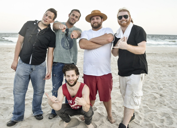 Gnarly Karma band memers, from left, are: Billy Hanley, Jarrod Beyer, Mike Renert, Ryan McAdam and Adam Sklar.