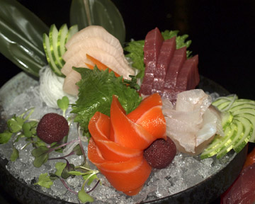 Sashimi for One ($29)… an artfully presented selection of fresh sashimi.
