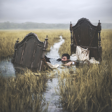 Northort fine art photographer Nicolas Bruno's surrealistic scenes explore his experiences with sleep paralysis. His solo show, In Limbo, is at Haven Gallery through March.  Photo/Nicolas Bruno