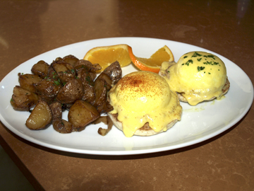 Eggs Benedict are a favorite on the brunch menu.