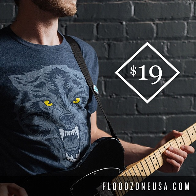 Hey all! We're howling to announce the release of our newest shirt, Midnight Wolf! Now thru June 15th, receive our New Release Sale Price on all shirt orders with the purchase of the new Midnight Wolf! Pick up your new favorite shirt today at www.floodzoneusa.com/shirts/midnight wolf
