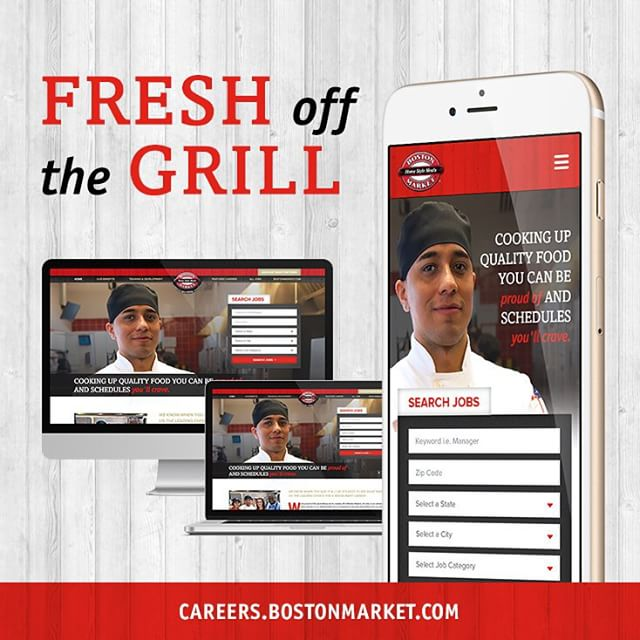 We are proud to announce the launch of the fresh new career site we've been cooking up for Boston Market! Check it out! careers.bostonmarket.com. #webdesign