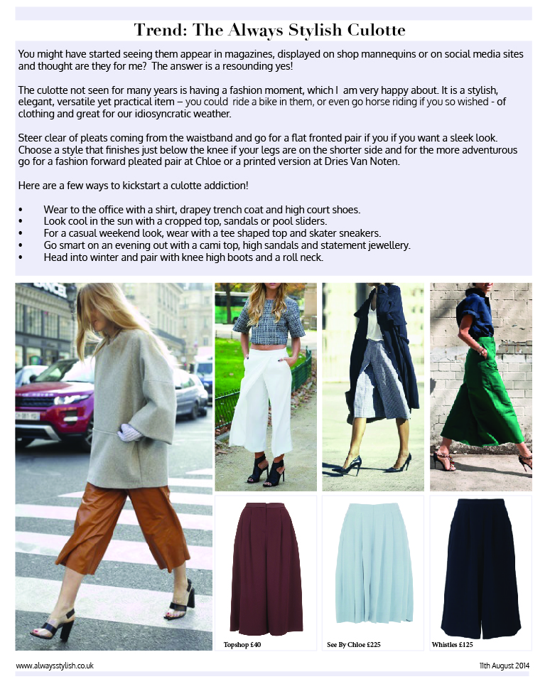 Always Stylish Culotte