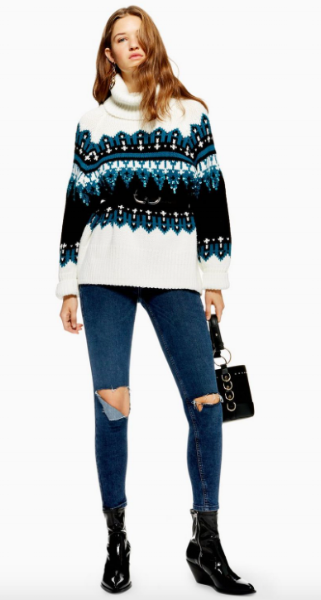 Topshop Sequin Fair Isle Jumper £59.99