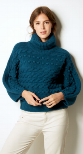 M&S Cable Knit Roll Neck £35