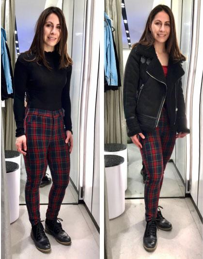 Always Stylish Blog Paola Check Trousers Zara