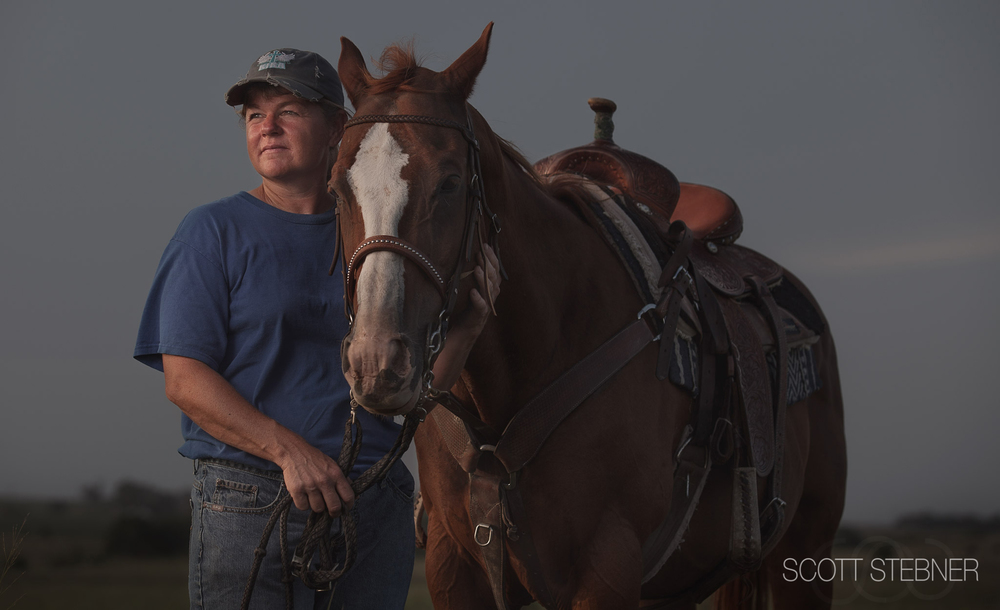 portrait of a Kansas rancher