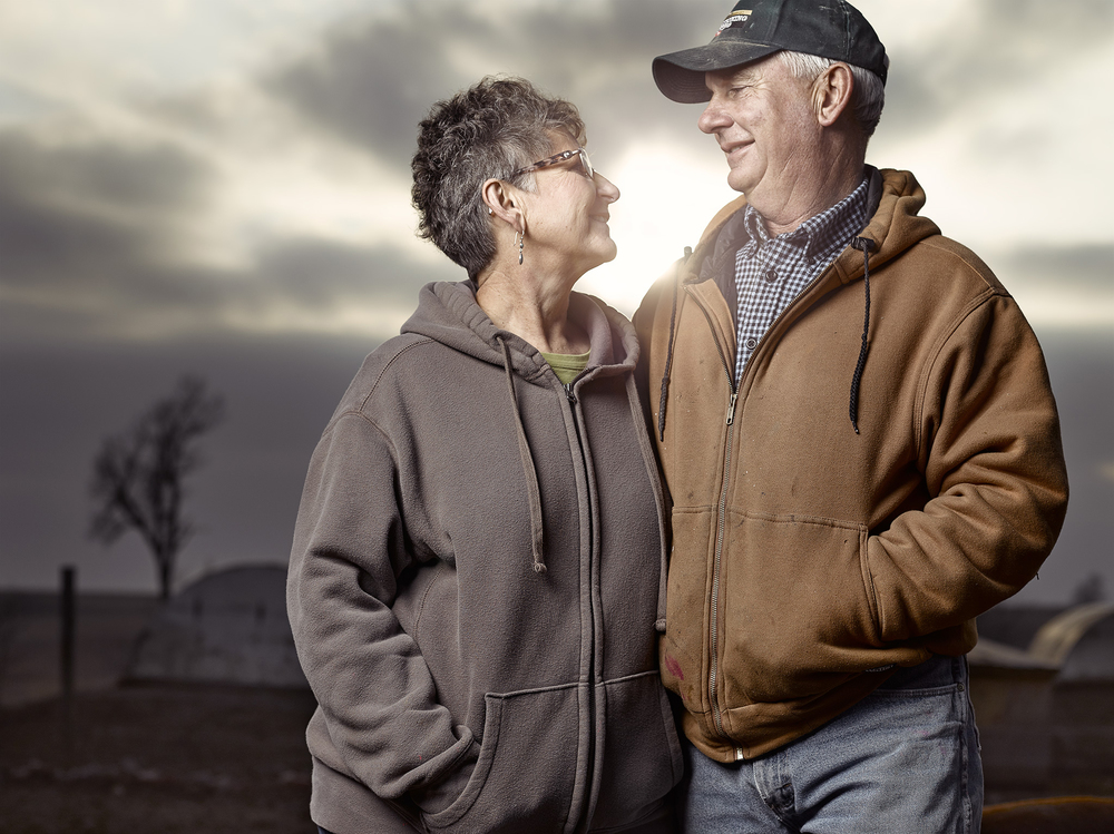 Craig and Amy farm as a team, and as the sun began to set on our day it became apparent that all this couple wanted to do was to farm another day together.