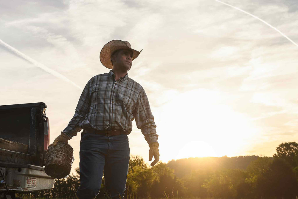 Tennessee Rancher Fixing Fence