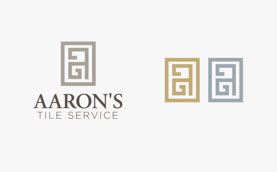This is one of the logo options I designed for Aaron's Tile Service that Tiffanie liked best.