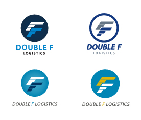 Narrowed down logo options for Double F Logistics. They chose to go with the first one.