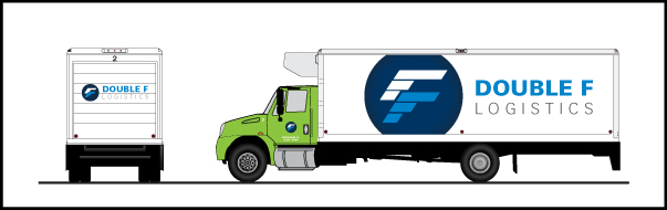 I tried applying the logo on a 18-wheeler for the option of having decals and a wrap.