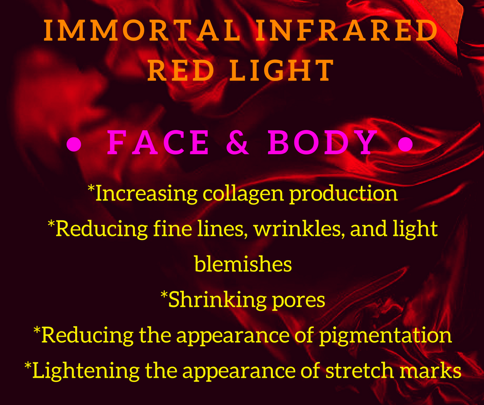 face and body red light mask info