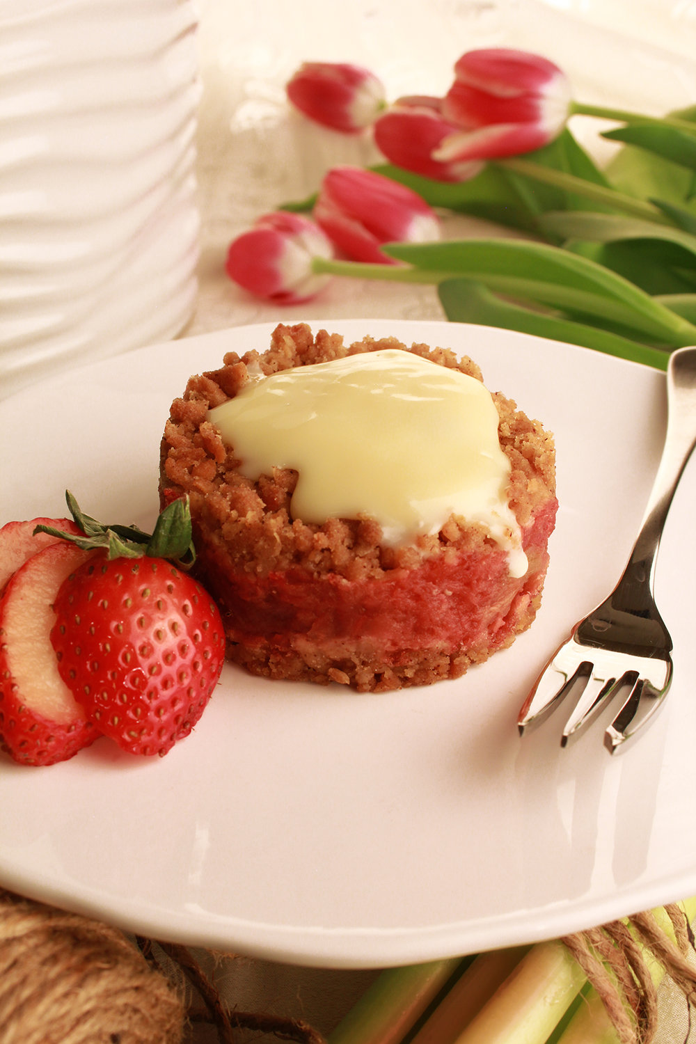 AND... our new Strawberry Rhubarb Crisp Melt-Away...