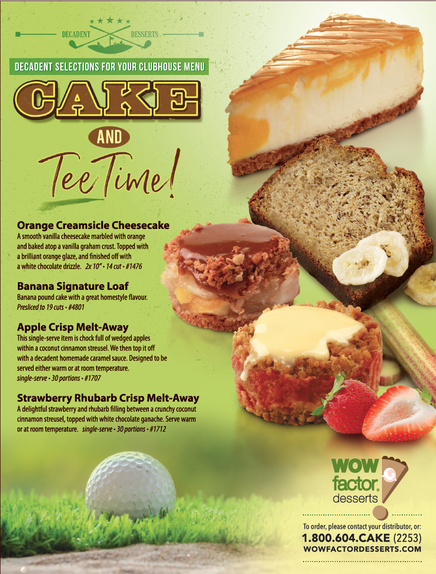 From sunrise to sunset, we have dessert items that will fuel the golfer in you!