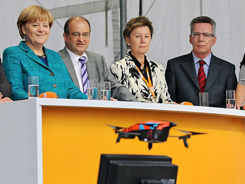 Through all the security at an event with German Chancellor Angela Merkel an off-the-shelf quadcopter got through. This was a prank, imagine if it was something else…