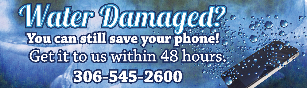 Water damaged? We can fix it.